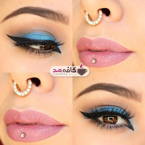 آرایش ساده چشم و لب