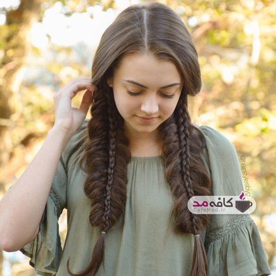 مدل زیبای بافت مو