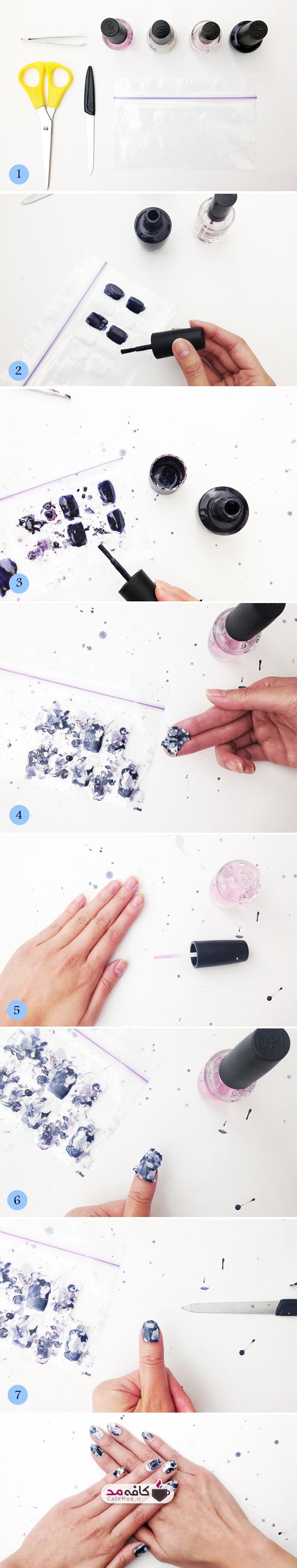 آموزش تصویری آرایش ناخن ابروبادی