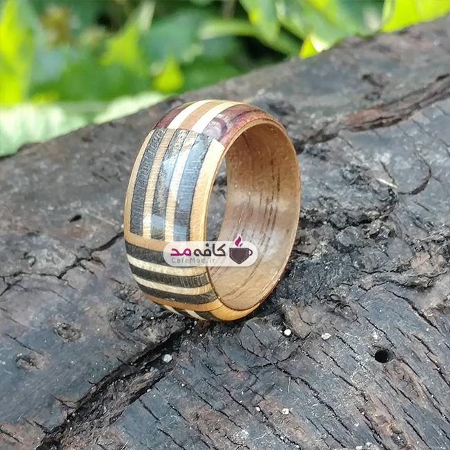 مدل انگشترهای چوبی دست ساز