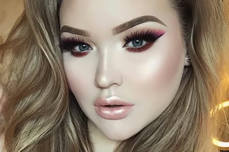 مدل آرایش غلیظ صورت افراد چاق