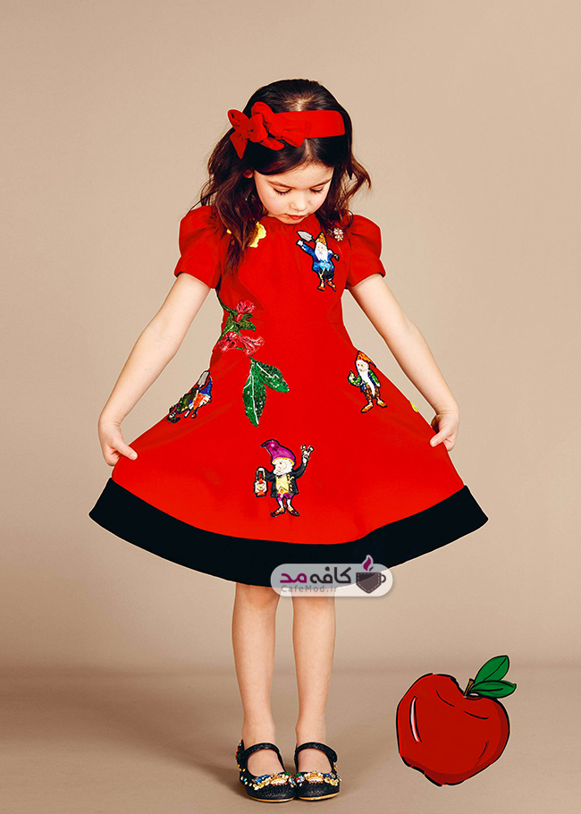 مدل لباس دخترانه مجلسی DolceGabbana