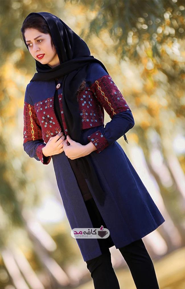 مانتوسنتی ازجنس پارچه شانتون مدل-مانتو-ایرانی-سنتی-ایواز