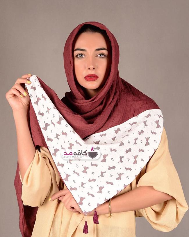 مدل شال زنانه از برند ایرانی فرگون