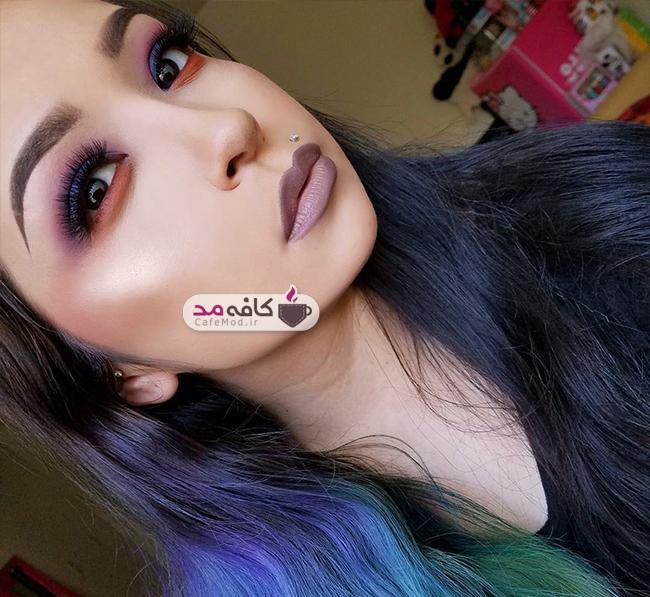 مدل آرایش صورت Angelica