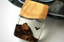 مدل زیورآلات چوبی و شیشه ای Tomiko