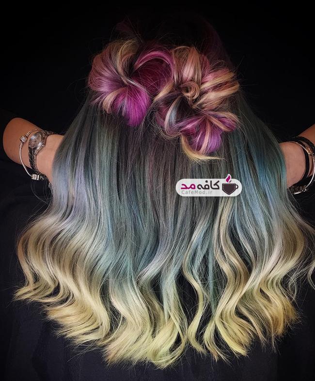 مدل های موی بسیار زیبا با رنگ های فانتزی