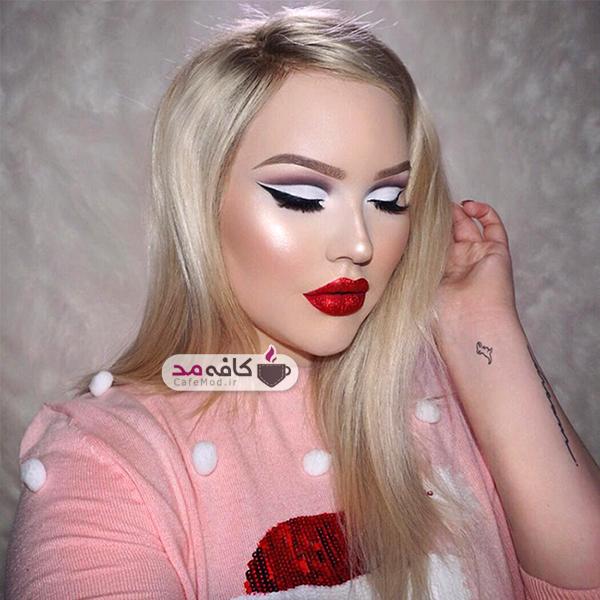 مدل آرایش کامل صورت زمستانه