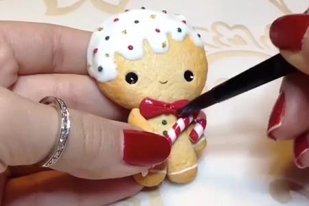 فیلم آموزش عروسک خمیری ریزه میزه
