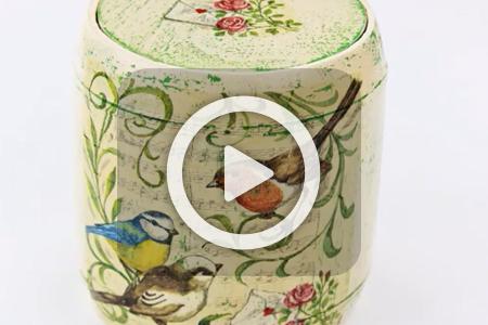 فیلم آموزش دکوپاژ روی جعبه چوبی