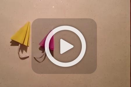 فیلم آموزش ساخت چتر کاغذی
