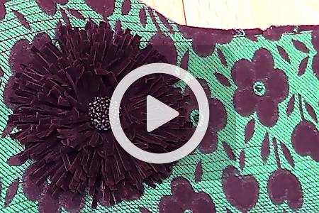 فیلم درست کردن گل برای تزیین لباس