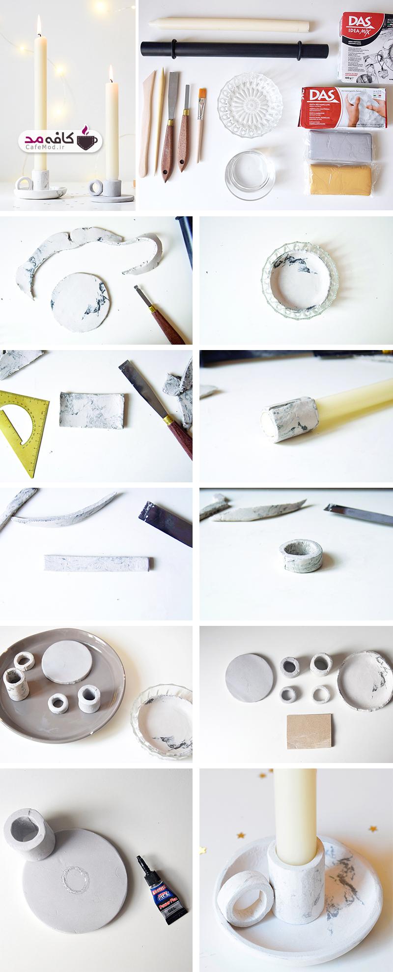 آموزش تصویری ساخت جا شمعی