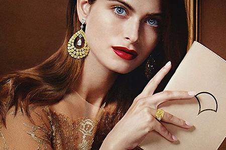 مدل جواهرات برند GraffDiamonds