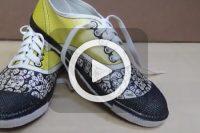 فیلم آموزش نقاشی روی کفش
