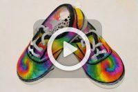 فیلم طراحی روی کفش بچه گانه