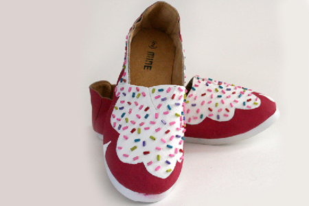 آموزش تزیین کفش به شکل دونات