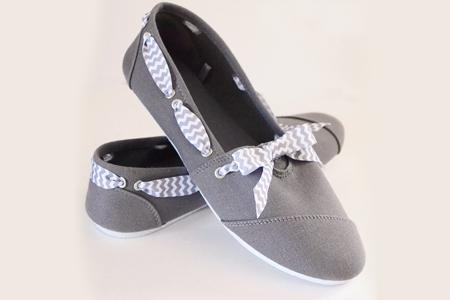 آموزش تصویری تزیین کفش ساده