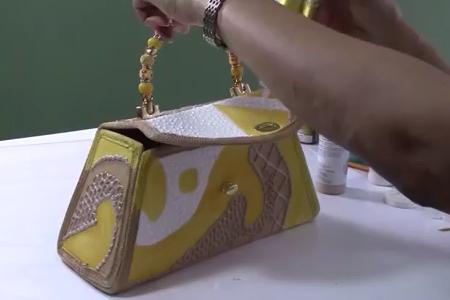 فیلم آموزش طراحی روی کیف مجلسی