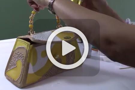 فیلم آموزش نقاشی روی کیف مجلسی