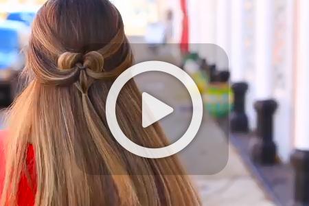 فیلم آموزش آرایش مو به شکل قلب