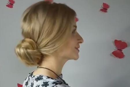 فیلم آموزش بافت موی متوسط از پشت