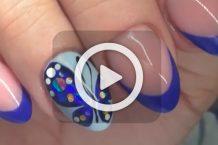 فیلم آموزش طراحی پروانه روی ناخن