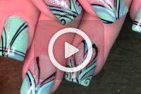 فیلم آموزش طراحی قلب روی ناخن