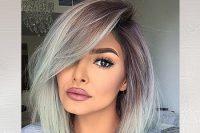 رنگ مو خاکستری برای زمستان 2017