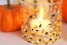 آموزش ساخت جا شمعی با لیوان