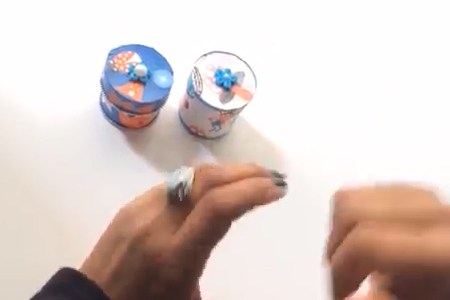 فیلم آموزش ساخت جعبه کوچک مقوایی