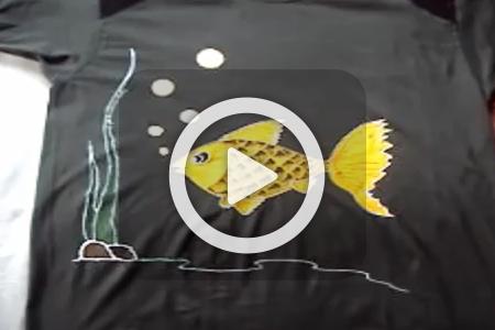 فیلم آموزش نقاشی ماهی روی تیشرت
