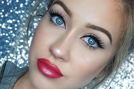 مدل آرایش صورت 10