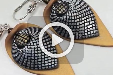 فیلم آموزش ساخت گوشواره های خمیری