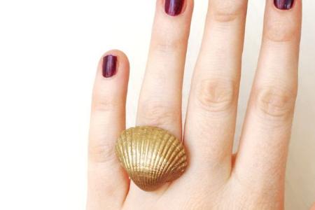آموزش تصویری ساخت انگشتر صدفی 2