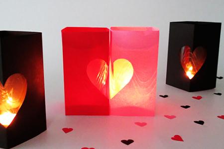آموزش ساخت جا شمعی قلبی 2