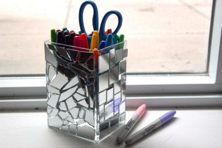 آموزش ساخت جامدادی آینه ای