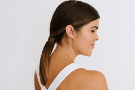 آموزش تصویری بستن موی بلند 2