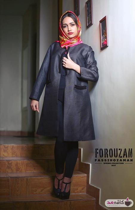 مدل مانتو مجلسی برند فروزان