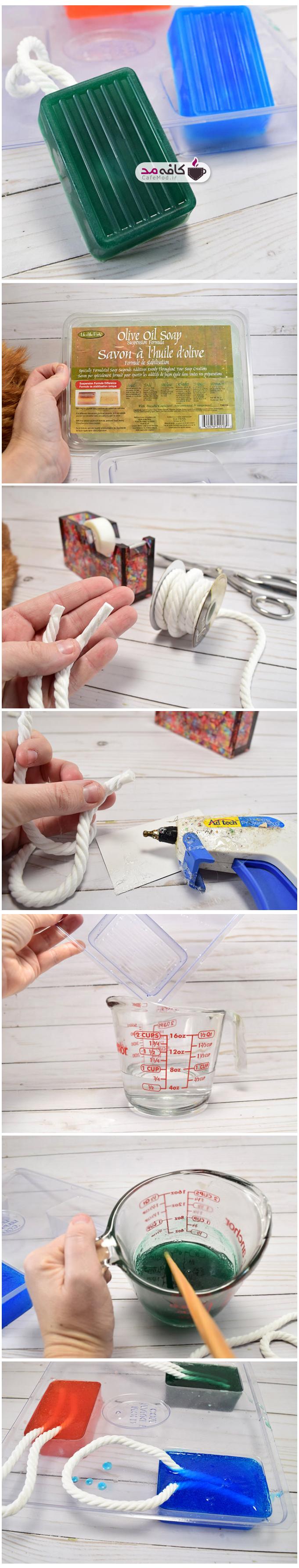آموزش ساخت صابون های طناب دار