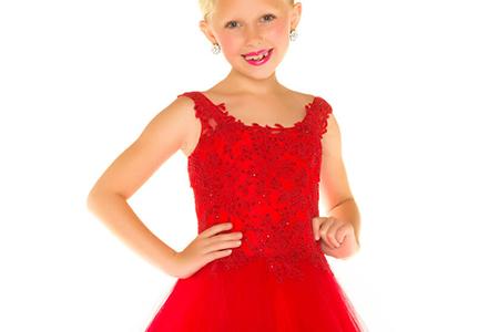 مدل لباس پرنسسی دخترانه 9