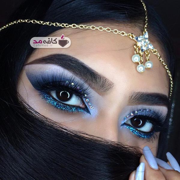 مدل جدید آرایش غلیظ چشم