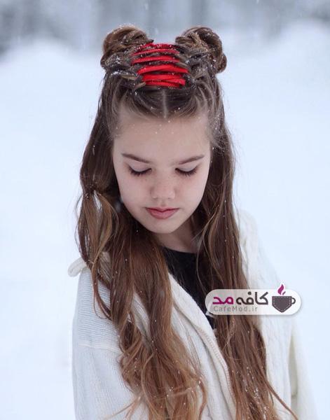 مدل شینیون دخترانه