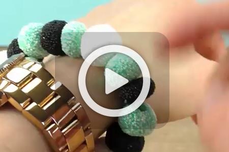فیلم ساخت دستبند خمیری پفکی