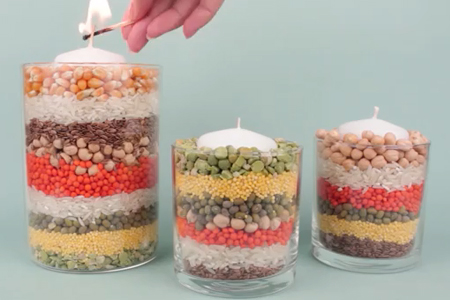 فیلم ساخت شمع با حبوبات