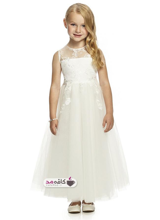 مدل لباس عروس دخترانه Dessy
