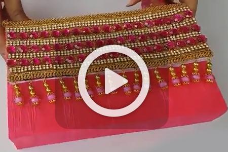 فیلم درست کردن کیف کاغذی دستی