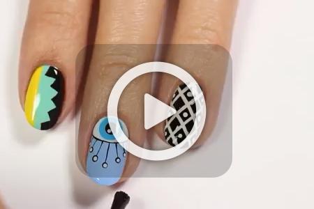 فیلم آموزش آرایش طرح های دخترانه روی ناخن