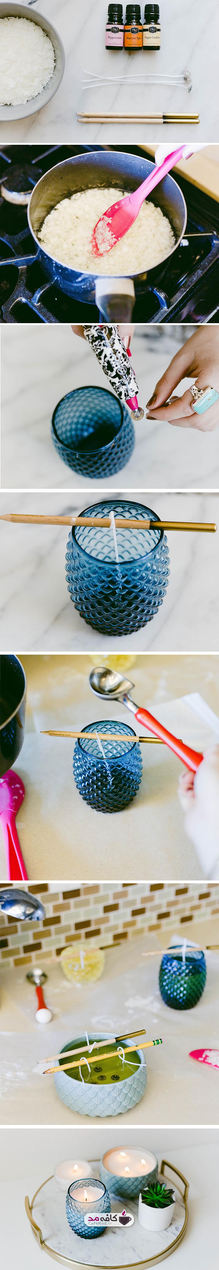 آموزش ساخت شمع های لیوانی