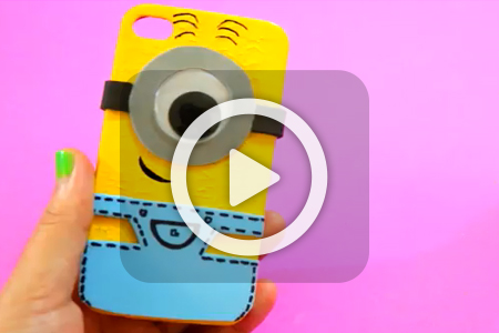 فیلم درست کردن کاور موبایل مینیون